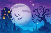 stock photo of moonlight  - Halloween topic background 1  - JPG
