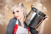 image of steamy  - Retro women and homemakers - JPG