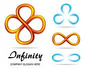 picture of mobius  - Set of design symbols of infinity - JPG