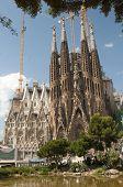 stock photo of gaudi barcelona  - Sagrada Familia  - JPG