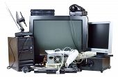 stock photo of hardware  - Old and used electric home waste - JPG