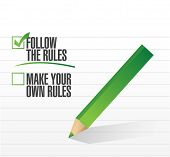 picture of anarchists  - follow the rules check of approval illustration design - JPG