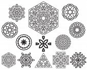 foto of celtic  - Set of celtic knot symbols design elements - JPG