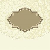 pic of nameplates  - Vector doodle floral decorative frame background design - JPG