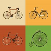 stock photo of sprinters  - Retro Icons  - JPG
