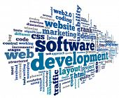 image of productivity  - Software development concept in tag cloud on white background - JPG