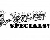 Cook-Out Specials - Retro Clip Art Illustration