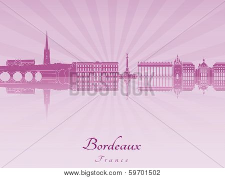 Bordeaux Skyline In Purple Radiant Orchid