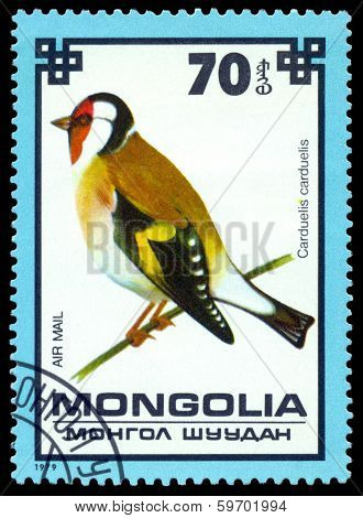 Vintage  Postage Stamp. Goldfinch.