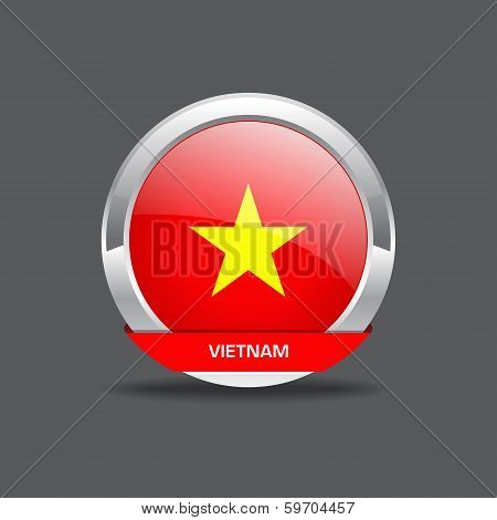 Vietnam Flag Vector Icon