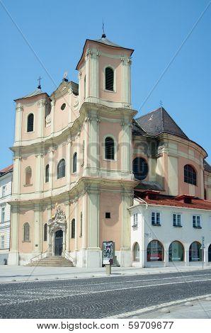 Side View Of Trinitarian Church, Bratislava, Slovakia