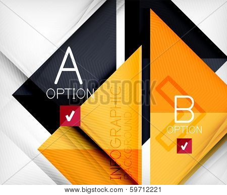 Triangle geometric shape infographic background