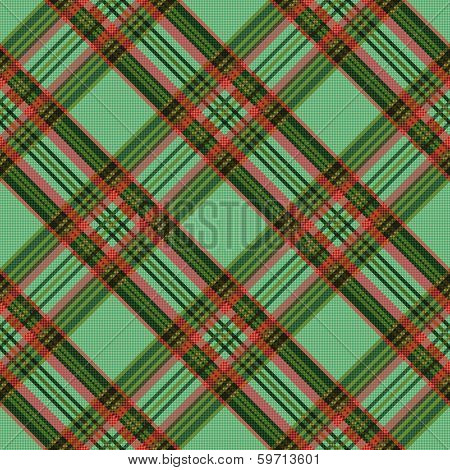 Diagonal Checkered Tartan Fabric Seamless Texture