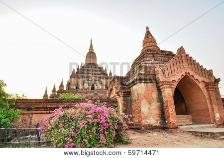 Ancient Temple In Bagan After Sunset , Myanmar