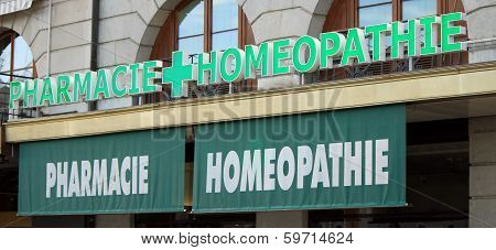 Homeopathic drugstore (french)