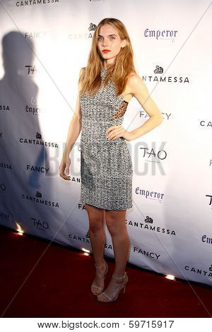 NEW YORK-FEB 10: Model Jordan Murray attends the Cantamessa Men Launch Party at Tao Downtown Lounge on February 10, 2014 in New York City.