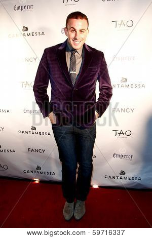 NEW YORK-FEB 10: Blogger Micah Jesse attends the Cantamessa Men Launch Party at Tao Downtown Lounge on February 10, 2014 in New York City.