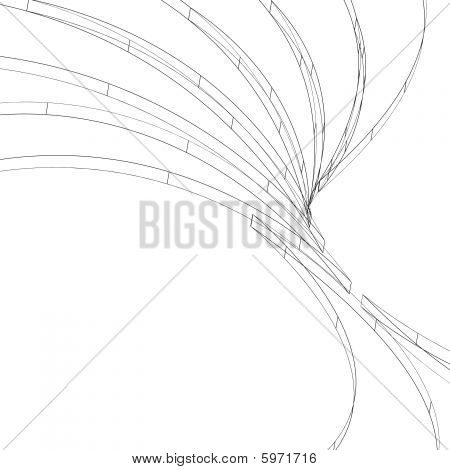 Twisted Swooshes Wireframe