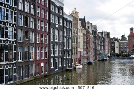 Amsterdam buildings and canal