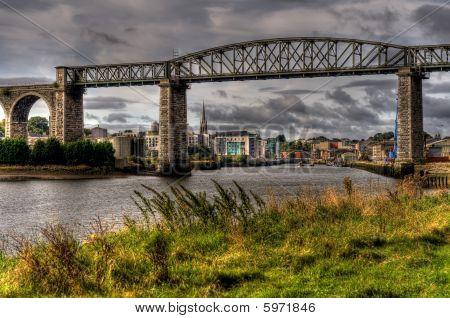 Viaduct Bridge Spanning A River