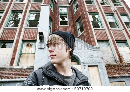 Inner city Teenage boy