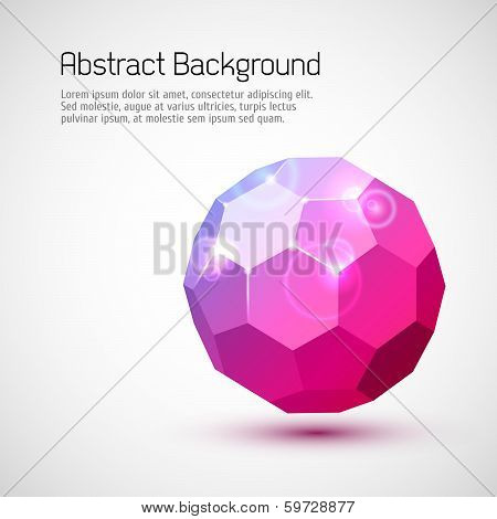 Abstract 3-dimensional background