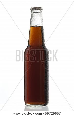 Soda Bottle Alcoholic Drink Cuba Libre With Water Drops