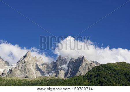 Aiguilles du Chamonix, Mont Blanc Massif, Alps, France