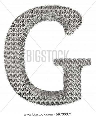 Chain Link Steel Alphabet - G