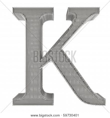 Chain Link Steel Alphabet - K