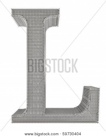 Chain Link Steel Alphabet - L