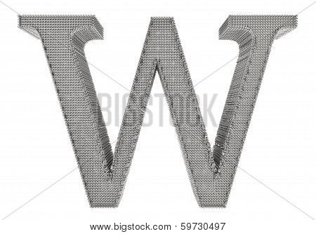 Chain Link Steel Alphabet - W