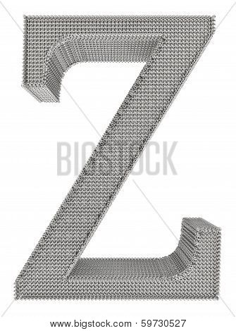 Chain Link Steel Alphabet - Z