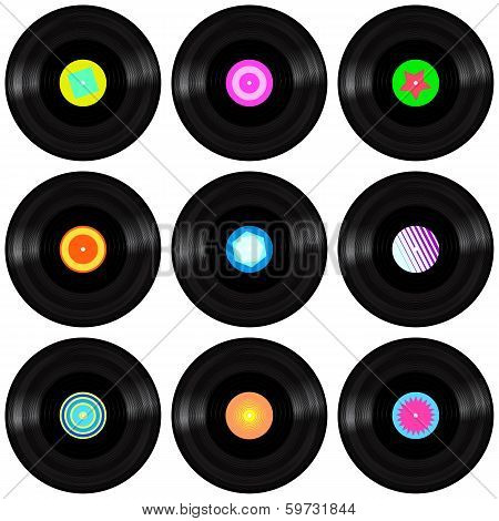 Vinyl Record. Realistic Vector Illustration