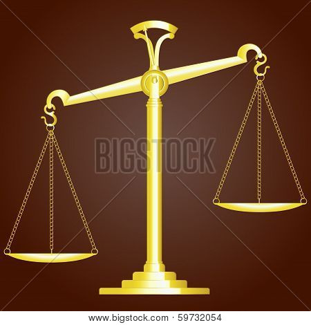 Scale Of Justice. Vector Illustration