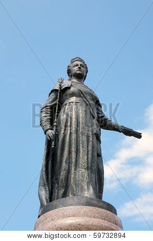 A Monument To The Russian Empress Catherine