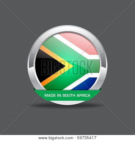 South Africa Flag Vector Icon