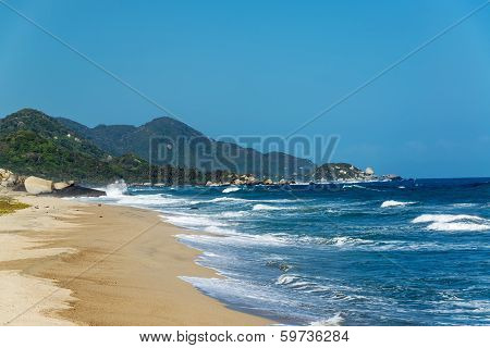Beach And Blue Waves