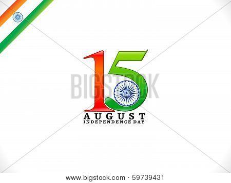 Abstract Fifteen August Text Wallpaper