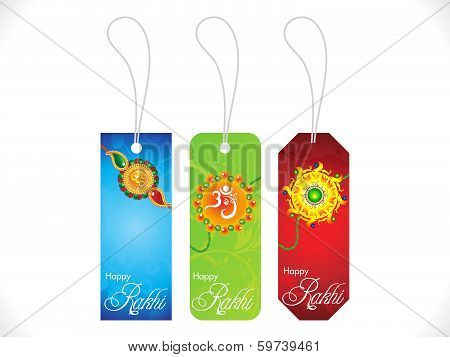 Abstract Multiple Rakshabandhan Sale Tags Background