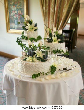Drei gestuft Hochzeitstorte