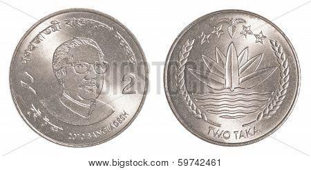 2 Bangladeshi Taka Coin