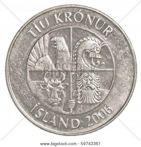 10 Icelandic Krona Coin