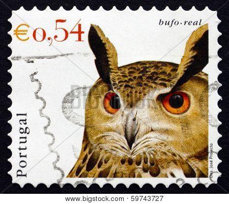 Postage Stamp Portugal 2002 Eurasian Eagle Owl, Bird