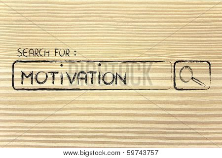 Search Engine Bar, Search For Motivation