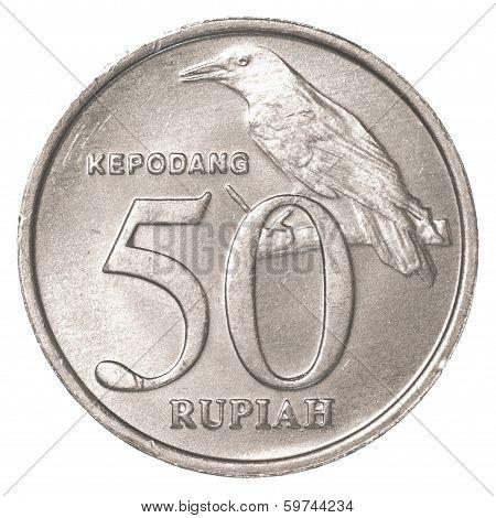 50 Indonesian Rupiah Coin