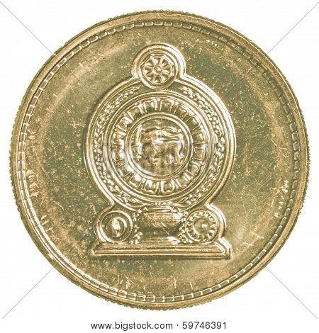 1 Sri Lankan Rupee Coin