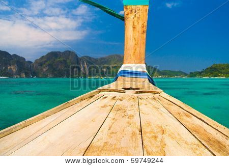 Thai Vessel Seascape Serenity