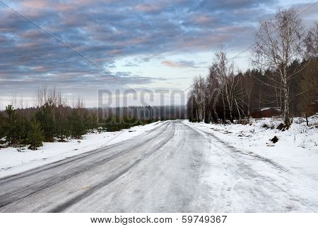 winter dangerous road