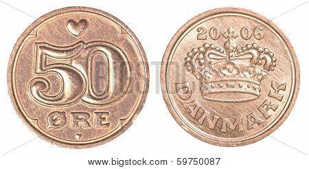 50 Danish Ore Coin